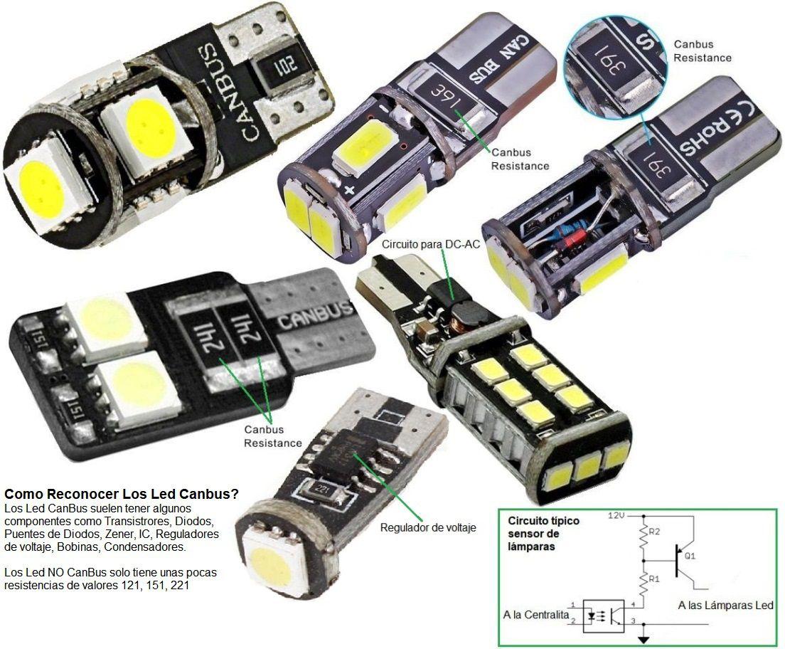 Fácil Led Electrónica para vehículos y Electro Lámparas coches NOkXnw80P