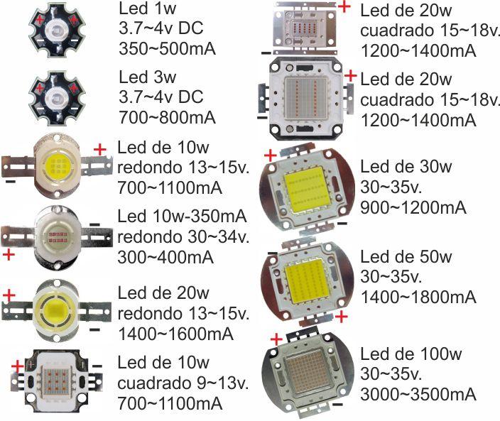 lampara 3 leds en serie